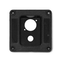 Recess Dish Punched for 2 x Jack Sockets Plastic