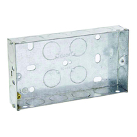 Image of 2 Gang Galvanised Steel Box